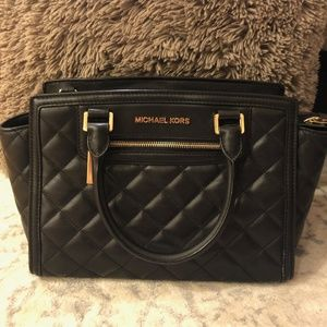 MICHAEL KORS Selma Quilted Leather Satchel